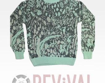 Vintage Pastel Pop Sweater ~ Size OS