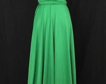 Green Bridesmaid Dress- Wrap dress Convertible Infinity Dress Evening Dresses -C31#