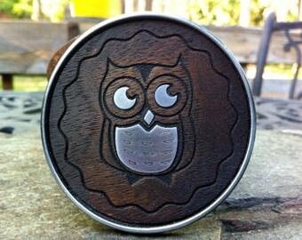 Wood Owl Belt Buckle
