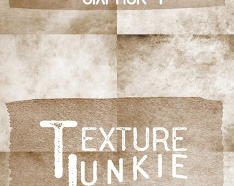 High Quality Grunge Overlays, Instant Digital Download Photoshop Photography, Art, Backgrounds, Mixed Media | Texture Junkie Sepia Sixpack 1