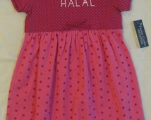 4T 100% Halal long dress, muslim baby girl dress, muslim baby girl gift, muslim baby gift, ramadan baby gift, eid baby gift, muslim baby