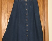 Women's Size 16 Hunt Club Denim Skirt, Good Condition, FREE SHIPPING