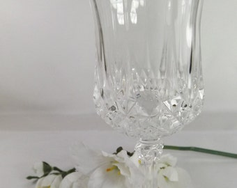 Vintage Cut Glass Wine Glass ( 6 Available)
