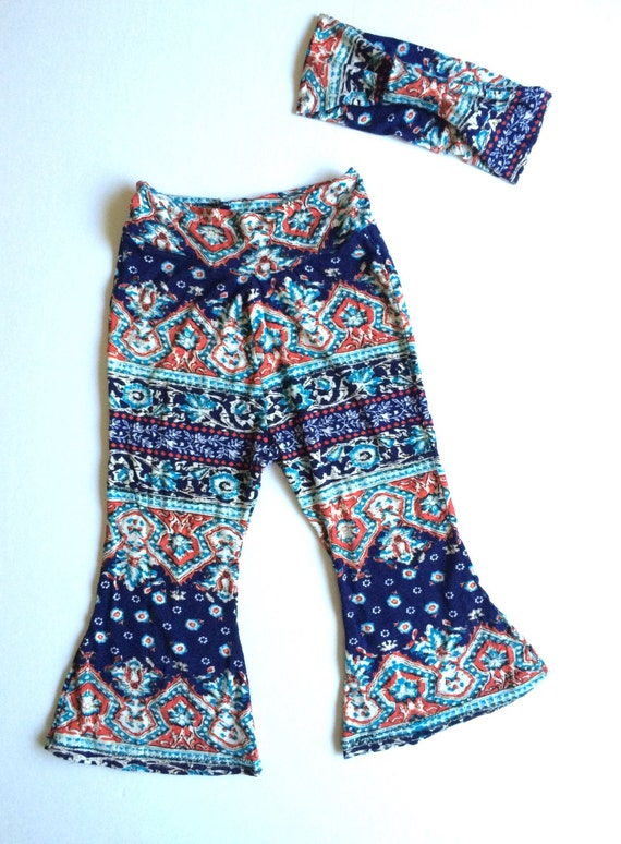 Hippie boho baby girls clothes girls tribal print