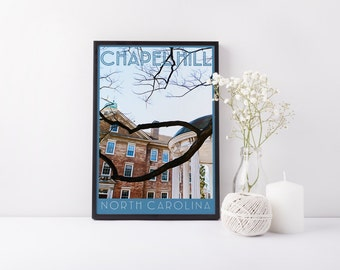 Print - Chapel Hill, NC - Digital Art