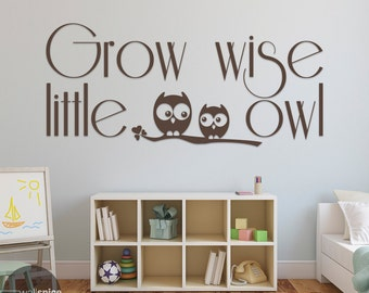 Grow Wise Little Owl Vinyl Wall Decal Sticker