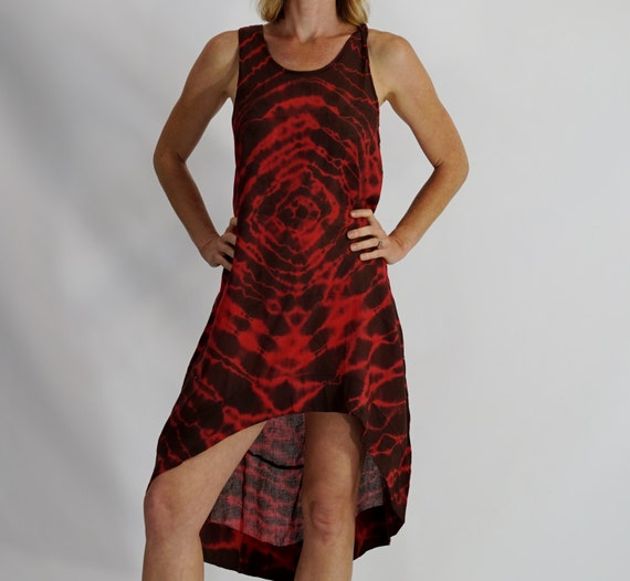 2083 Best Images About Puppetry: TIE DYE DRESS High Low Cut Roomy Swim Suit Cover Up By
