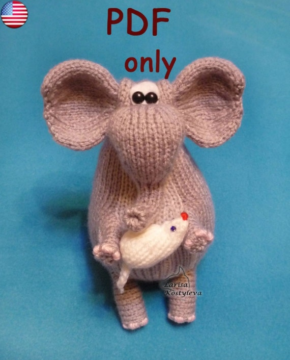 Amigurumi Elephant Knitting Pattern : Elephant knitting amigurumi pattern pdf