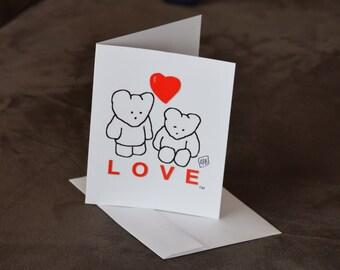 Bear Love Greeting cards
