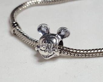 Mickey Charm Spacer -Cute Mickey Mouse Charm- - Fits all Designer and European Charm Bracelets