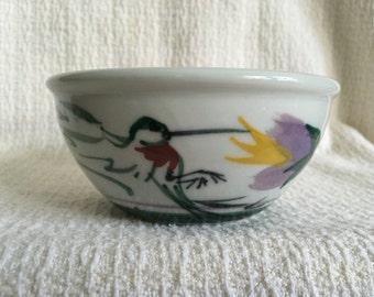 Hummingbird Pottery Bowl, Hand Painted Hummingbird Bowl, Cereal Bow, Soup Bowl, Art Pottery, Hummingbird Art, Hummingbird Design