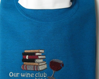 sweatshirt, BOOK CLUB embroidered sweatshirt