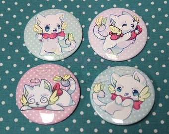 Kawaii Kitty Button Pack