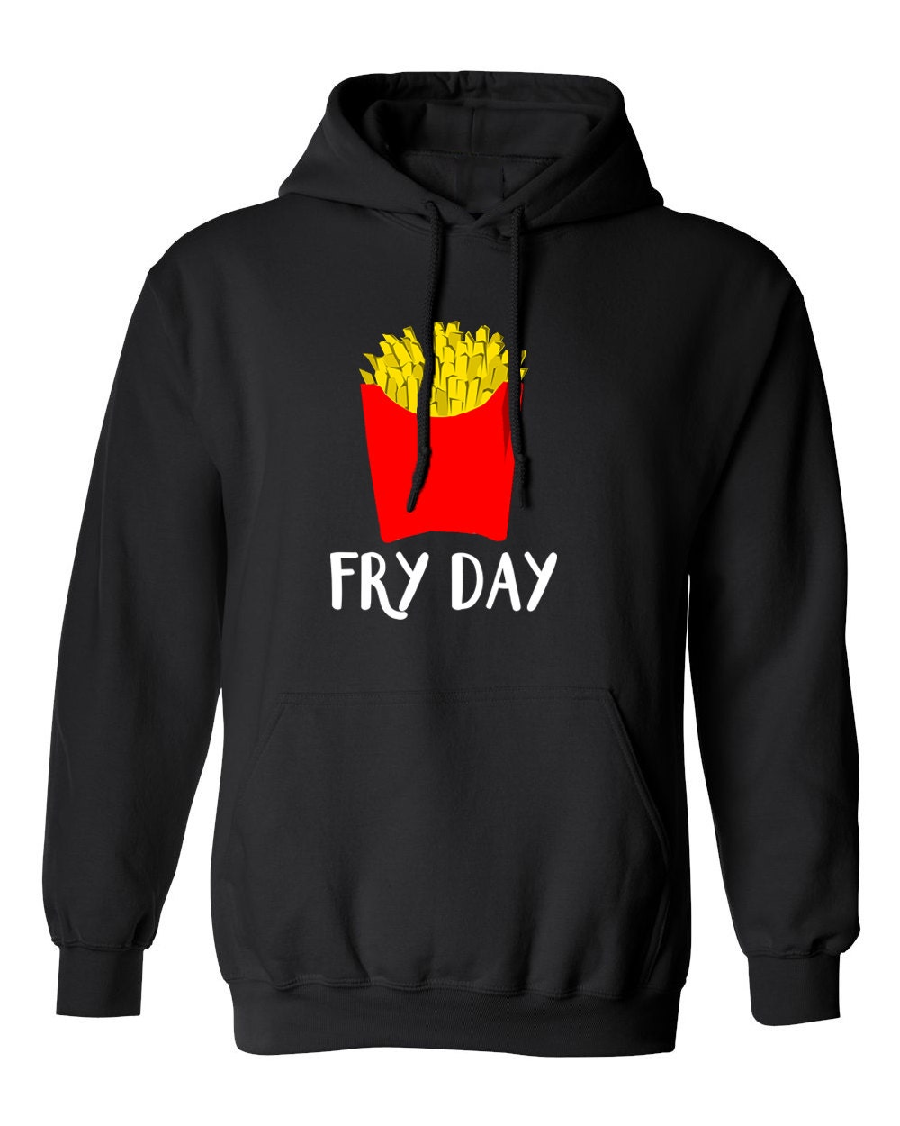 Fry Day Funny Cute Trendy French Fries Delicious Junk Food for Adult Unisex Sweater Crewneck Warm Crew-neck Women Clothing Men Clothing PqIR13e