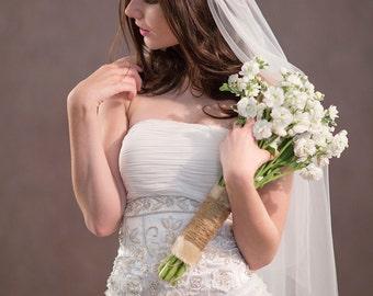 Juliet Cap Veil, Juliet veil, wedding veil, tulle veil, bohemian veil, boho veil, Kate Moss veil, fingertip veil, chapel veil, 1920s veil