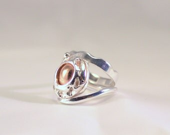 silver ring with copper