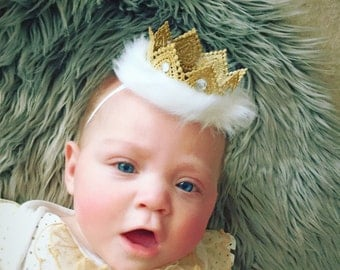Golden Elsa lace crown