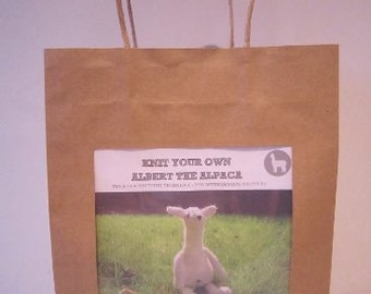 """knit your own """"ALBERT THE ALPACA"""""""