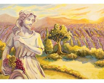Small 5x7 Pinot Grigio Art Print