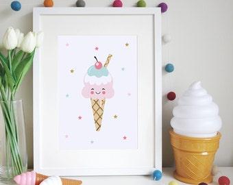 Happy Ice-Cream Print