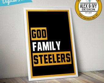 Steelers Wall Art steelers wall art | etsy