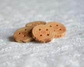 Larch tree wooden buttons, decorative wood buttons, tree branch button, 4 holes big buttons, natural buttons