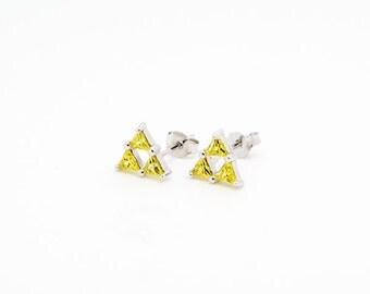 Triforce studs, zelda earrings, the legend of zelda inspired earrings