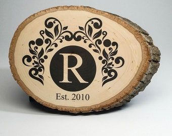 BACK of WOOD DESIGN Add-On - Premade Design with Your Family Name on Back of Wood Photo