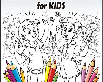 Custom coloring pages for Kids, cartoon style, original drawings