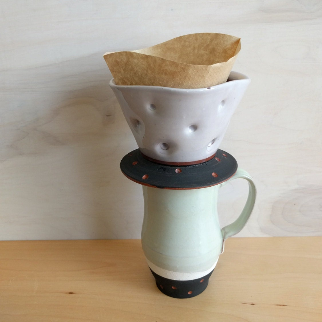 Pour Over Coffee Maker Vs Drip : Pour Over Drip coffee pour over coffee by SperlazzaPottery