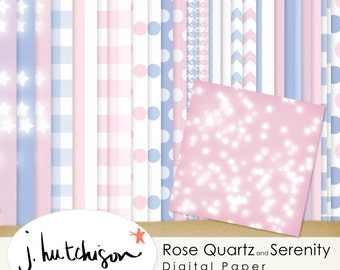 Commercial Use Instant Download Rose Quartz and Serenity 2016 Color of the Year Digital Papers