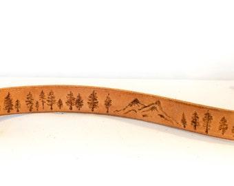Dog Collar - Trees & Mountains