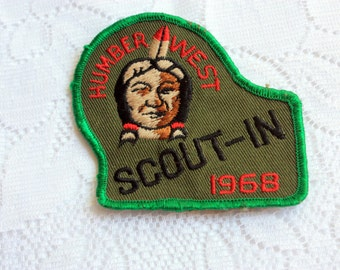 Vintage Scouts Patch Humber West Patch Humber West Scout-In patch, vintage boy scouts collectible