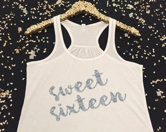 Sweet Sixteen Tank Top - Sweet Sixteen Birthday Tank Top - 16th Birthday Tank Top - Cute Birthday Tank Top for Girls - 16th Birthday Shirt