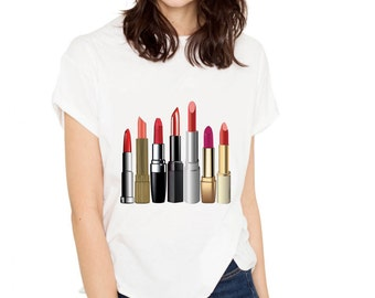 Crazy About Lipstick T-shirt (15-203)