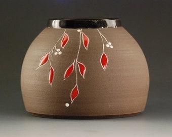 Handmade pottery, Vase, Ceramic Vase, Handmade vase, Flower Vase, Pottery vase, Handmade container, PencilHolder, Flower Pot, valentine gift