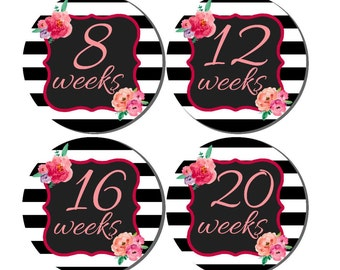 Weekly Pregnancy Stickers, Pregnancy Announcement, Pregnancy Belly Stickers, Pregnancy Photo Prop, Maternity Stickers, P41