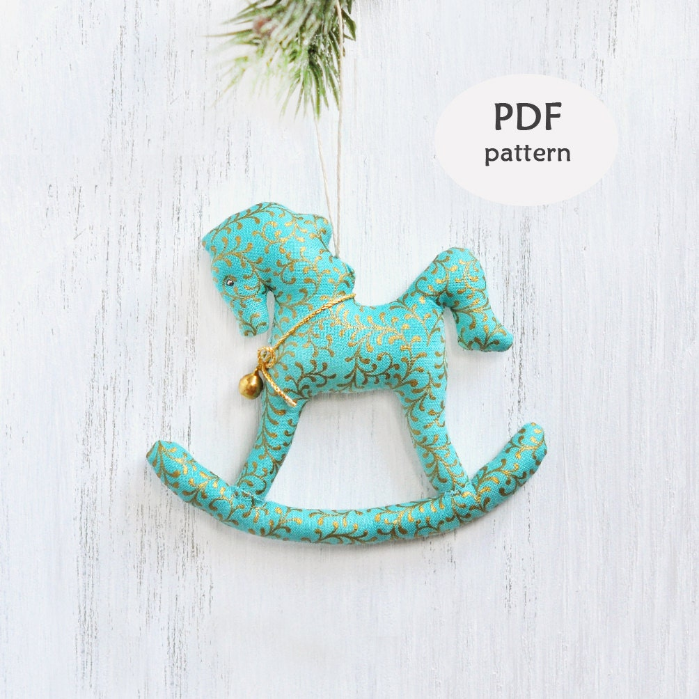 stuffed rocking horse pattern sewing christmas gifts rocking