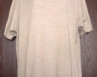 Comfy Vintage WinterSilks Short Sleeved T-Shirt Tee Shirt Cashmere & Silk