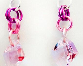 1157+ - Purple earrings, Swarovski earrings, crystal earrings, purple jewelry, Swarovski jewelry, crystal jewelry, Swarovski crystal,