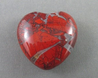 Brecciated Jasper Heart Stone - Healing Crystals and Stones, Love Stone, Puffy Heart, Protection Stone, EMF Protection, Root Chakra T365