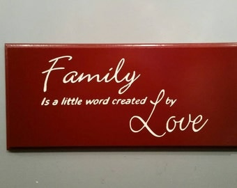 Engraved Family Sign / Love Sign, Personalized Sign, Carved Sign, Wedding, House Warming
