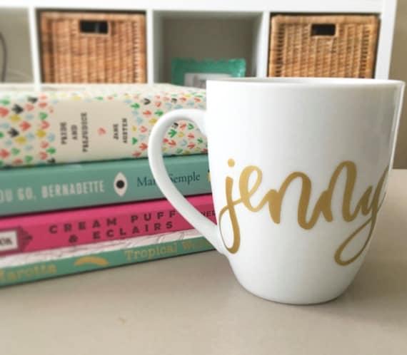 Personalized Coffee Mugs Wedding Gift : ... GiftQuote Coffee Mug- Teacher GiftWedding GiftBridal Mug