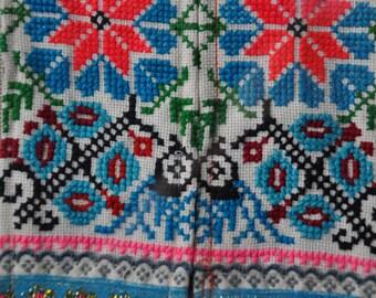 Framed Thai hill tribe textile