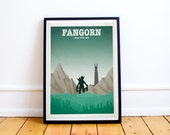 Fangorn Forest - Lord of the Rings - Hobbit - Travel Poster Style Art Print - Lord of the Rings Poster - Retro - Wall Art - Home Decor