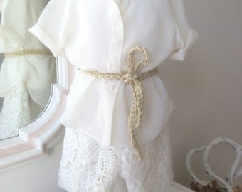 ceremony complete with lace trousers and shirt in light cotton size 2 years