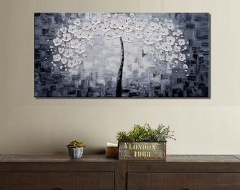 Canvas Art, Oil Painting, Wall Art, Modern Art, Abstract Art, Canvas Painting, Tree Painting, Abstract Painting, Large Art, Original Art