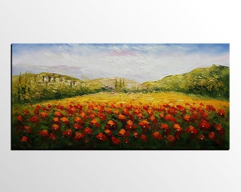 Flower Painting, Large Art, Canvas Art, Original Oil Painting, Canvas Painting, Contemporary Art, Abstract Art, Wall Art, Abstract Painting