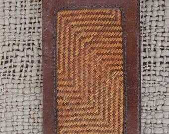 Vintage Leather Woven Ladies Purse / Wallet