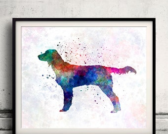 Large Munsterlander 01 in watercolor - Fine Art Print Glicee Poster Decor Home Watercolor Gift Illustration dog - SKU 1575